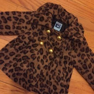 Old navy animal print baby girl coat